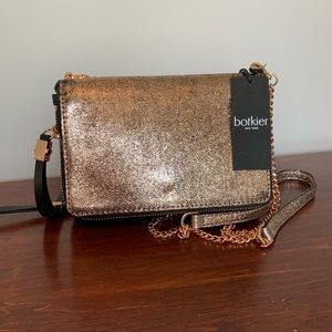 NWT Botkier Sullivan Rose Gold Leather Crossbody